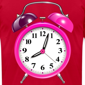 funny pink alarm clock - Men's T-Shirt by American Apparel