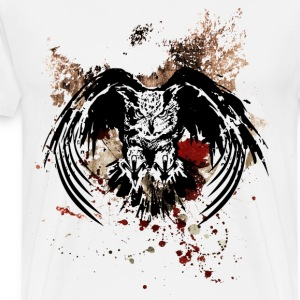 Grunge Horned Owl - Men's Premium T-Shirt