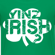 Design ~ Yinz Irish? Kids T-shirt - White Cutout