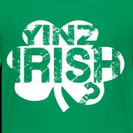 Design ~ Yinz Irish? Kids T-shirt - White Cutout