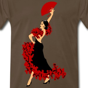 dancing woman with a fan - Men's Premium T-Shirt