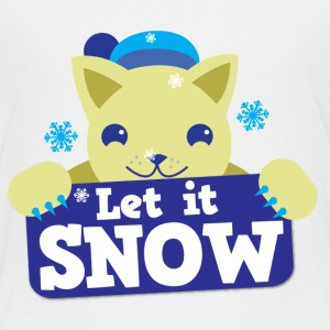 Let it SNOW cute winter kitty cat Baby & Toddler Shirts - Toddler Premium T-Shirt