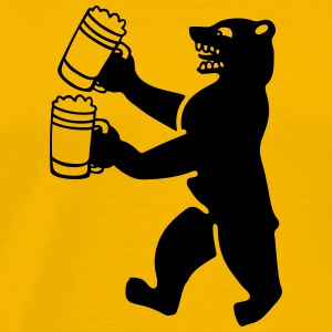 Bear beer T-Shirts - Men's Premium T-Shirt