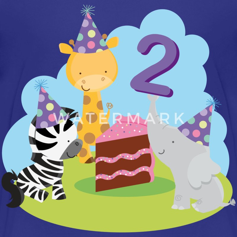 2nd Birthday T-shirt (Animal Party) - Kids' Premium T-Shirt