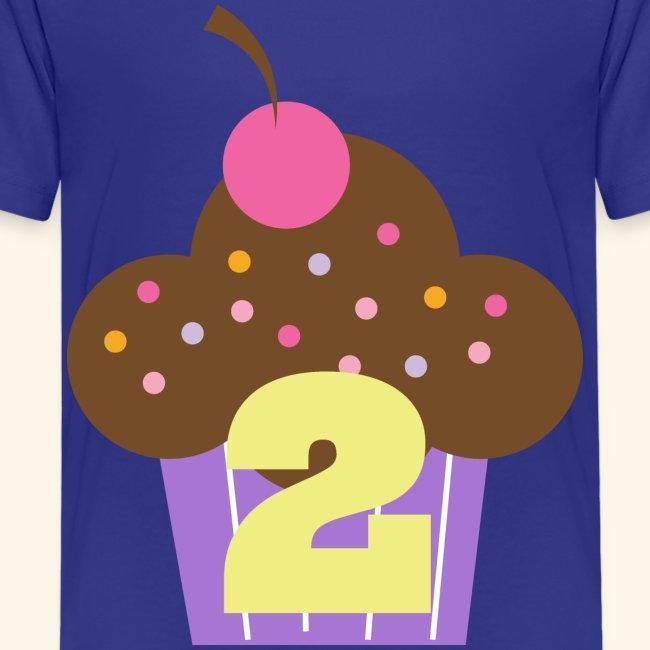 2nd Birthday T Shirt Cupcake