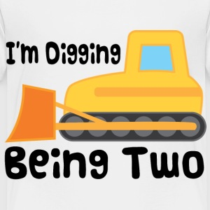 2nd Birthday Bulldozer Baby & Toddler Shirts - Toddler Premium T-Shirt