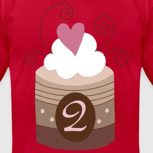 2nd Birthday Cupcake T-Shirts - Men's T-Shirt by American Apparel