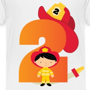 2nd Birthday Fireman Baby & Toddler Shirts - Toddler Premium T-Shirt