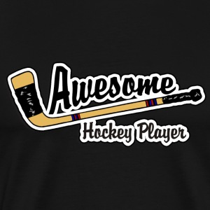 Hockey Player T-Shirt - Men's Premium T-Shirt