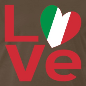 Italian LOVE in Red - Men's Premium T-Shirt