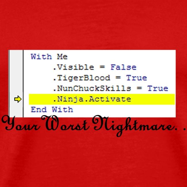 Ninja Activate Excel VBA | Men's Premium T-Shirt