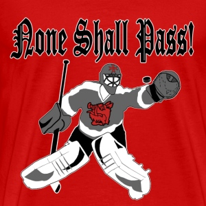 None Shall Pass - red t-shirt - Men's Premium T-Shirt