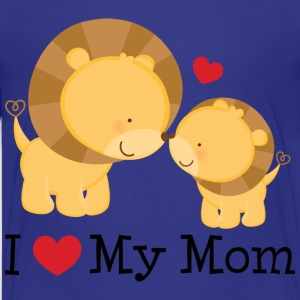 I Love My Mom Baby T-shirt (Lions) - Kids' Premium T-Shirt