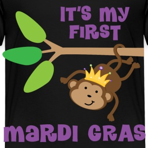 1st Mardi Gras (monkey) Baby & Toddler Shirts - Toddler Premium T-Shirt