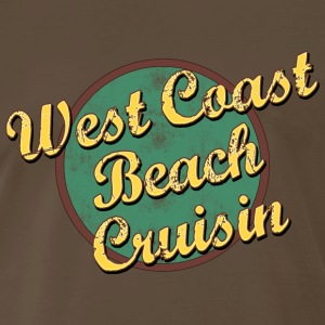 Vintage West Coast Beach Cruising T-Shirt - Men's Premium T-Shirt