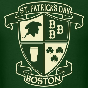 St. Paticks Day Boston Irish Crest  T-Shirts - Men's T-Shirt