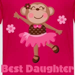 Best Daughter (girl monkey) Baby & Toddler Shirts - Toddler Premium T-Shirt