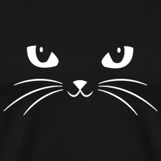 Cat Face With Big Eyes T-Shirts