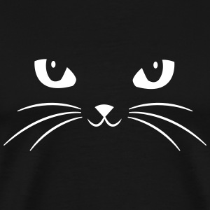 Cat Face With Big Eyes T-Shirts - Men's Premium T-Shirt