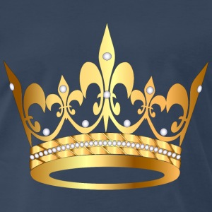 gold king crown - Men's Premium T-Shirt