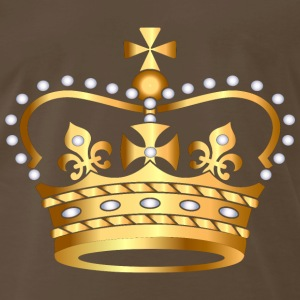 gold king crown2 - Men's Premium T-Shirt