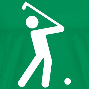 Golf Stickman  T-Shirts - Men's Premium T-Shirt