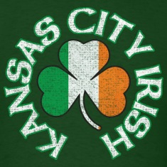 Kansas City Irish Shamrock Flag Apparel T-Shirts