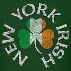new_york_irish_shamrock_flag_clothing_apparel T-Shirts