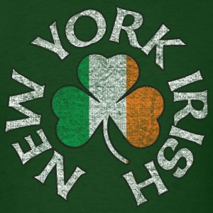 new_york_irish_shamrock_flag_clothing_apparel T-Shirts - Men's T-Shirt