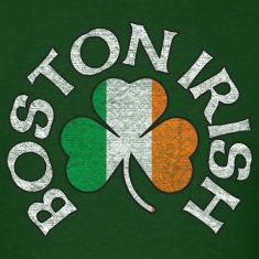 Boston Irish Shamrock Flag Clothing  T-Shirts