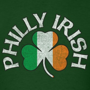 Philly Irish Shamrock Flag Apparel T-Shirts - Men's T-Shirt