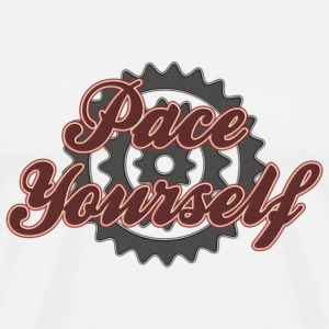 Bicycle Cycling Pace Yourself T-Shirt - Men's Premium T-Shirt