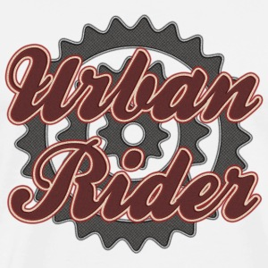 Bicycle Cycling Urban Rider T-Shirt - Men's Premium T-Shirt