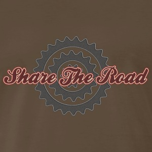 Bicycle Cycling Share The Road T-Shirt - Men's Premium T-Shirt