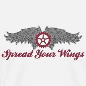 Bicycle Cycling Spread Your Wings T-Shirt - Men's Premium T-Shirt