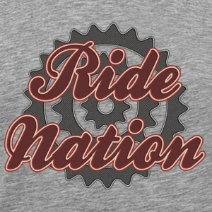 Bicycle Cycling Ride Nation T-Shirt - Men's Premium T-Shirt