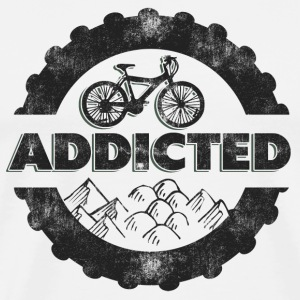 Bicycle Mountain Biking Addicted T-Shirt - Men's Premium T-Shirt