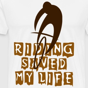Bicycle Cycling Riding Saved My Life T-Shirt - Men's Premium T-Shirt