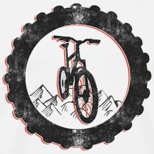 Bicycle Vintage Mountain Bike T-Shirt - Men's Premium T-Shirt