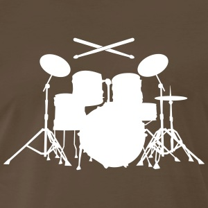 Drums with sticks Shirt - Men's Premium T-Shirt