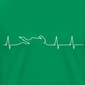 Motorcycle Biker heartbeat Shirt - Men's Premium T-Shirt