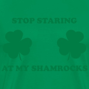Stop Staring at Shamrocks Men's T - Men's Premium T-Shirt