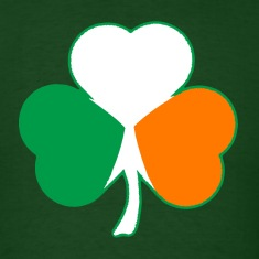 Irish Flag Hearts Shamrock T-shirt