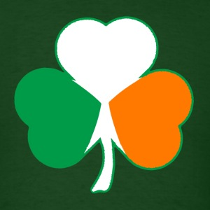 Irish Flag Hearts Shamrock T-shirt - Men's T-Shirt