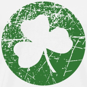 Grunge Green Shamrock - Men's Premium T-Shirt