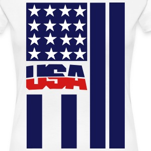 USA FLAG - Women's Premium T-Shirt