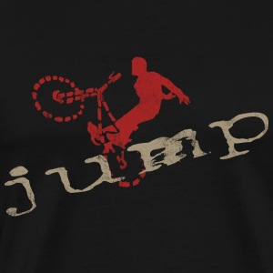 Bicycle BMX Jump T-Shirt - Men's Premium T-Shirt