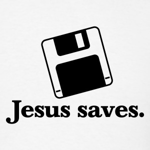 Jesus Saves - Men's T-Shirt