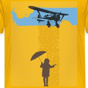 Girl in Plane Rain Kids' Shirts - Kids' Premium T-Shirt