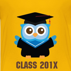 cute blue owl with graduation hat Kids' Shirts - Kids' Premium T-Shirt